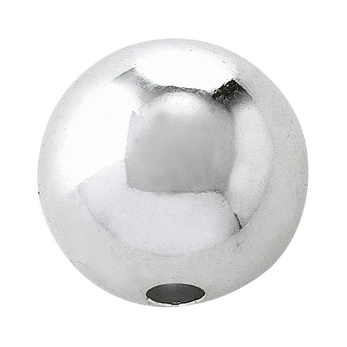 2-Hole Ball, 925Ag Polished, ø 14 mm - 1 piece