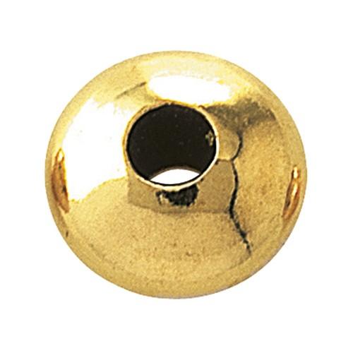 Linse, 585G poliert, ø 4,5 x 3 mm - 1 Stück