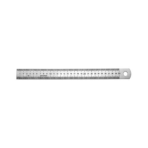 Ruler, Spring Steel, 300 x 30 x 1,0 mm - 1 piece