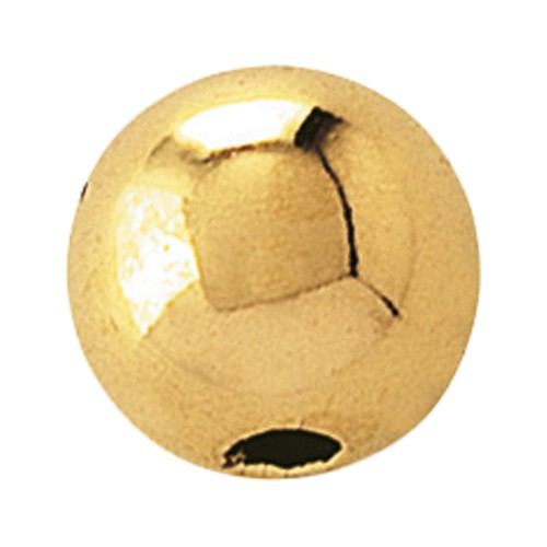 2-Hole Ball, 585G Polished, ø 4 mm - 1 piece