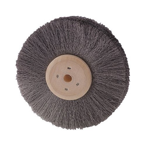 Round Brush, Steel Wire, 4 Rows, ø 100 mm, Wire ø 0,08 mm - 1 piece