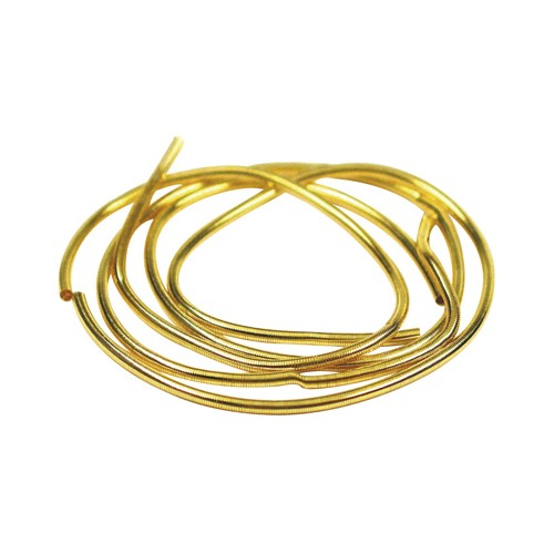 Bouillon French Wire, Gold-Plated, External ø 1.0 mm - 0,45 m