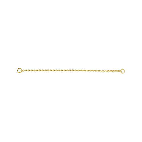 Safety Chain Curb Chain, 935Ag Gold-Plated, 60 mm - 1 piece