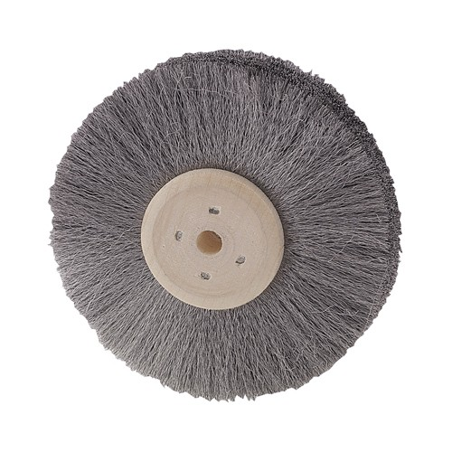 Round Brush, Steel Wire, 4 Rows, ø 75 mm, Wire ø 0,08 mm - 1 piece