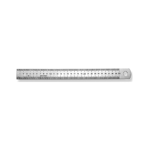 Ruler, Spring Steel, 500 x 30 x 1,0 mm - 1 piece