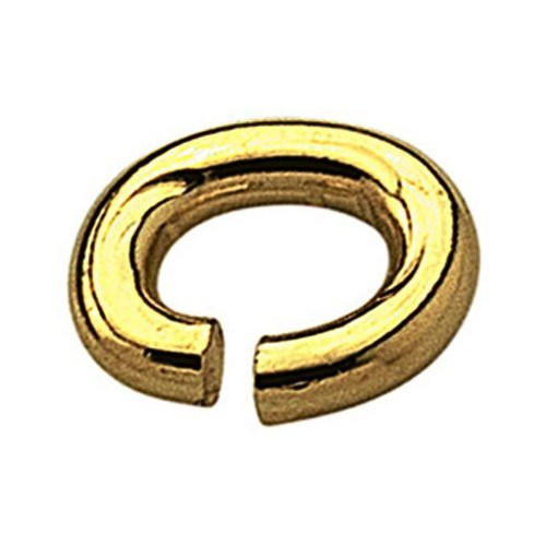 Binding Rings, Oval, Rolled Gold, ø 3 mm - 10 pieces